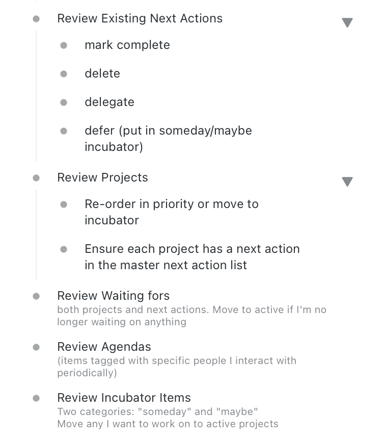 Section 2 of weekly review
